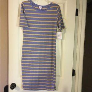 NWT Lularoe Striped Julia dress